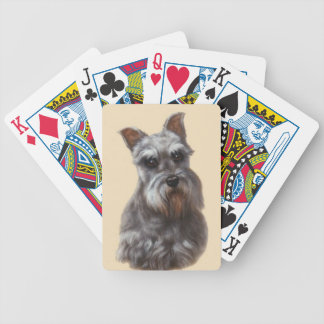 Schnauzer Dog Playing Cards