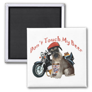 Schnauzer Don't Touch My Gift products Square Magnet