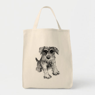 Schnauzer Drawing on Bag