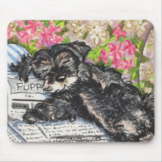 Schnauzer Dreams Print Mouse Mat