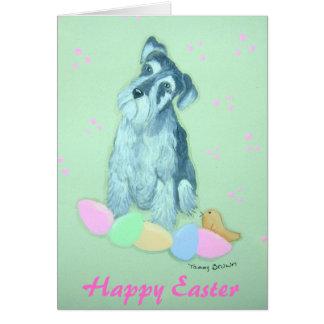 Schnauzer Easter Notecard