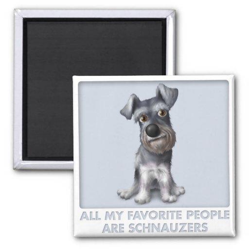 Schnauzer Favourite Square Magnet