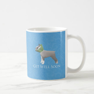Schnauzer Get Well Soon Design Basic White Mug