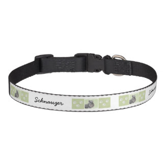 Schnauzer (Giant, Standard) Painting - Dog Art Pet Collar