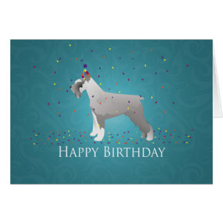 Schnauzer Happy Birthday Design Greeting Card