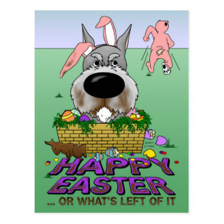 Schnauzer Happy Easter Postcard