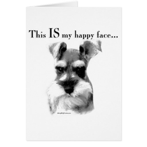 Schnauzer Happy Face Greeting Cards