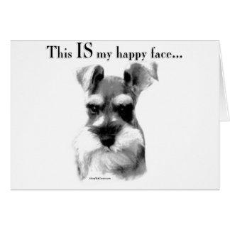 Schnauzer Happy Face Cards
