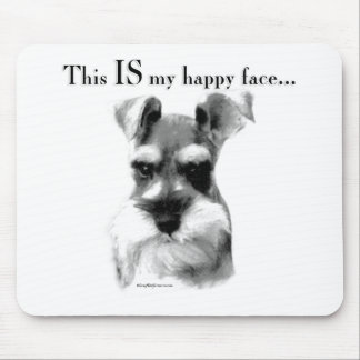 Schnauzer Happy Face Mouse Mat