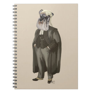 Schnauzer Lawyer 2 Spiral Notebook