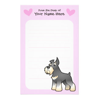 Schnauzer Love Stationery Paper