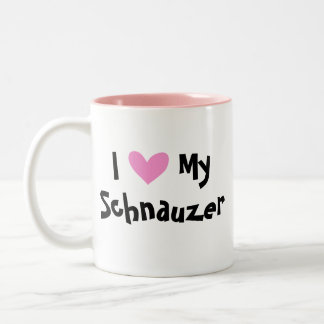 Schnauzer Love Two-Tone Coffee Mug