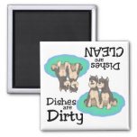 Schnauzer Lovers Dishwasher Magnet