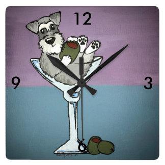Schnauzer Martini Clock