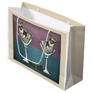 Schnauzer Martini Double the Trouble Gift Bag
