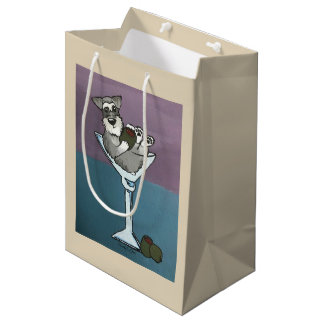 Schnauzer Martini Gift Bag Medium