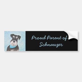 Schnauzer (Miniature) Bumper Sticker