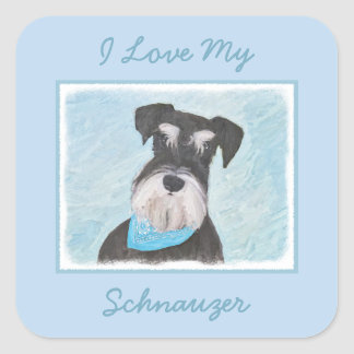 Schnauzer (Miniature) Square Sticker