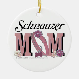 Schnauzer MOM Christmas Ornament