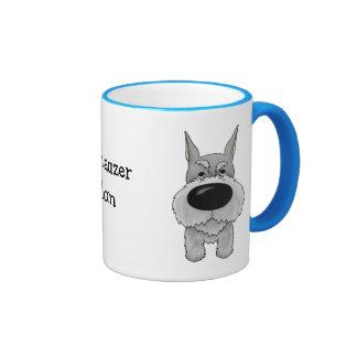 Schnauzer Mom Ringer Mug