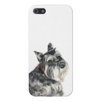 Schnauzer Painting iPhone 5/5S Case