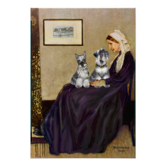 Schnauzer Pair 3 - Whistlers Mother Poster