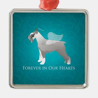 Schnauzer Pet Memorial Design Christmas Ornament
