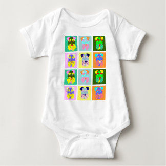 Schnauzer Pop Art Baby Bodysuit