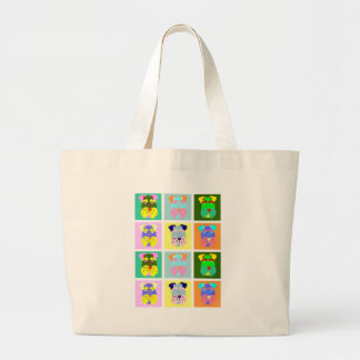 Schnauzer Pop Art Large Tote Bag
