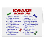 SCHNAUZER Property Laws 2 Greeting Cards