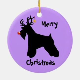 Schnauzer Reindeer Christmas Christmas Ornament