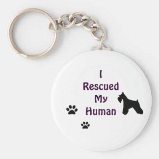 Schnauzer Rescue Keychain