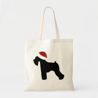 Schnauzer Santa Hat Tote Bag