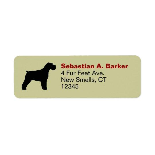Schnauzer Silhouette (natural ears) Return Address Label