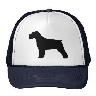 Schnauzer Silhouette with Natural Ears Cap