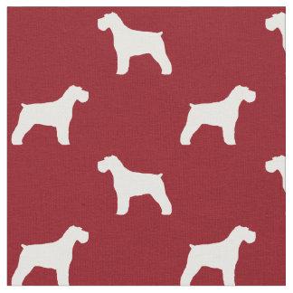 Schnauzer Silhouettes Pattern Fabric