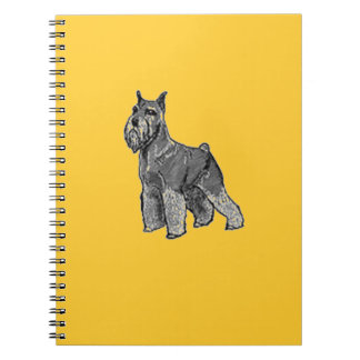 Schnauzer Spiral Notebook