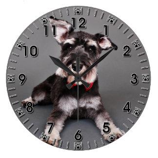 Schnauzer - Tom Dooley Large Clock