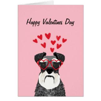 Schnauzer Valentines Dog Love Card