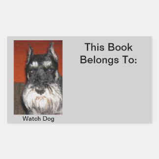 Schnauzer Watch Dog Sticker