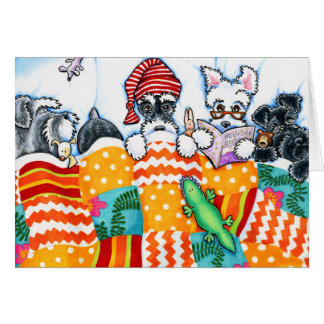 Schnauzers And Snoozes Card