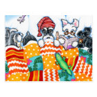 Schnauzers And Snoozes Postcard