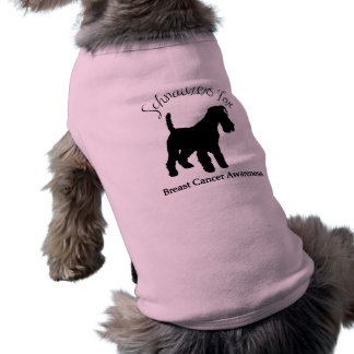 Schnauzers For Breast Cancer Awareness Doggie T Shirt
