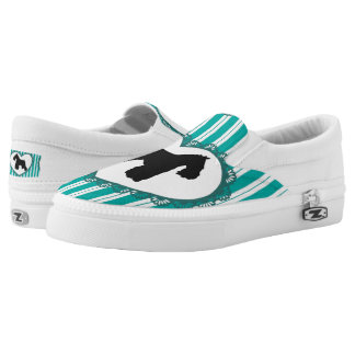 Schnauzers Hearts and Stripes Shoes Printed Shoes