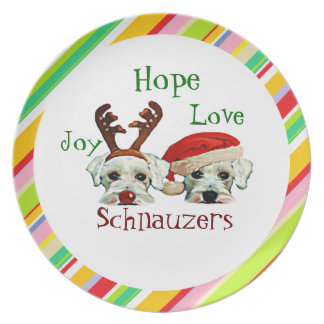 Schnauzers Holiday Plate