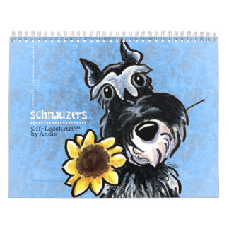 Schnauzers Off-Leash Art™ Vol 1 Calendars