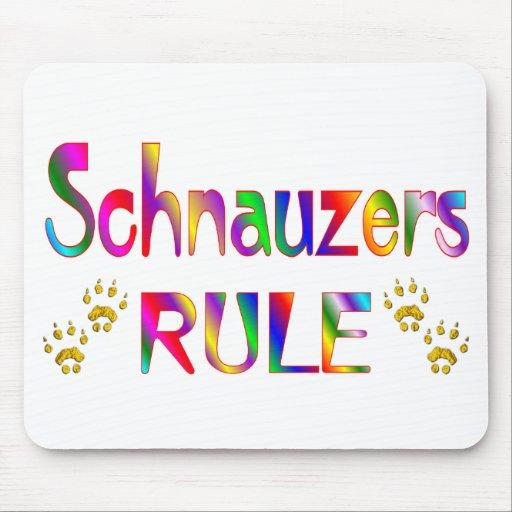 Schnauzers Rule Mouse Mat