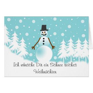 Schneeman Grusskarte Card