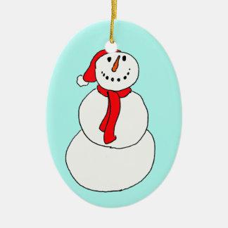 Schneemann Christmas Ornament