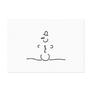 Schneemann snow carrot cylinder canvas print